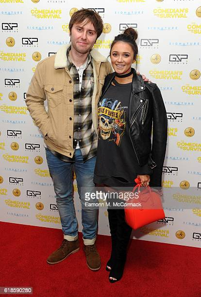 James Buckley and Wife Clair Meek attend the photocall for The Comedian's Guide To Survival at Vue Piccadilly on October 27 2016 in London England