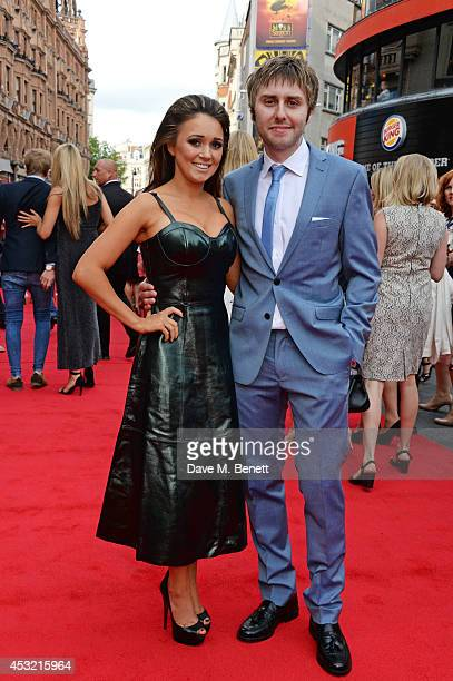 James Buckley and wife Clair Meek attend the World Premiere of The Inbetweeners 2 at Vue West End on August 5 2014 in London England
