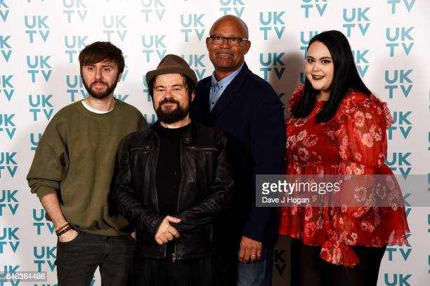 James Buckley Kenneth Collard Louis Emerick and Sharon Rooney attend the UKTV Live 2017 photocall at Claridges Hotel on September 13 2017 in London...