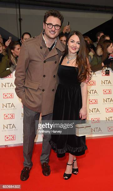 James Bye and Lacey Turner attend the National Television Awards on January 25 2017 in London United Kingdom