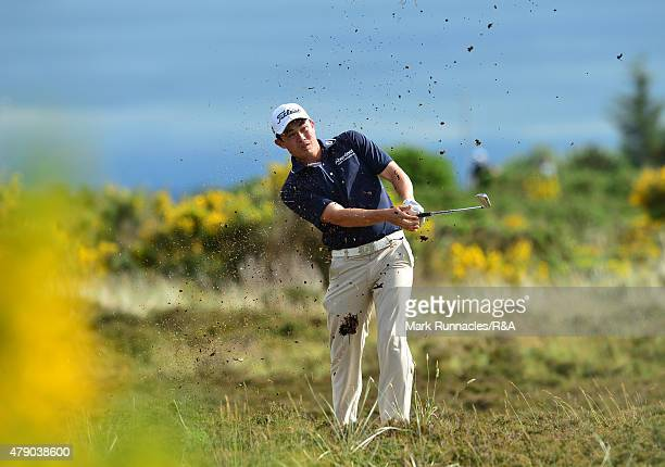 James Byrne of Scotland in action during the final qualifying for the Open Championship at Gailes Links Golf Course on June 30 2015 in Irvine Scotland