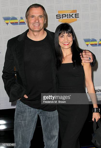 James C Burns and Nancye Ferguson arrive at Spike TV's 2010 Video Game Awards held at the LA Convention Center on December 11 2010 in Los Angeles...