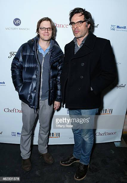 James C Strouse and Jemaine Clement attend ChefDance 2015 presented by Victory Ranch and sponsored by Merrill Lynch Freixenet Anchor Distilling and...