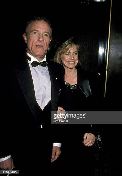James Caan and guest during Jewish National Funds Annual Tree of Life Awards at Sheraton Premiere Hotel in Los Angeles California United States