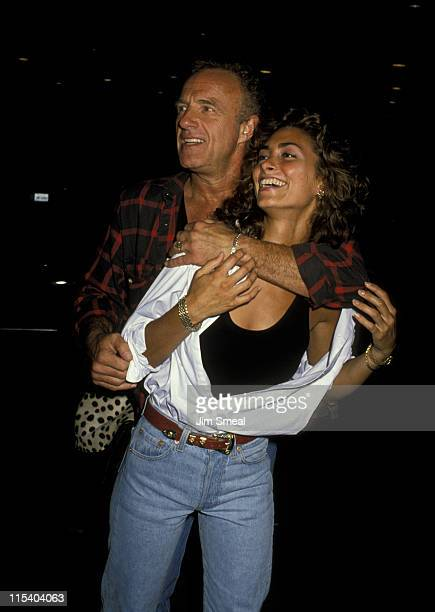 James Caan And Ingrid Hayjek during Gregg Gorman's Birthday Party June 29 1989 at Tramp's in Beverly Hills California United States