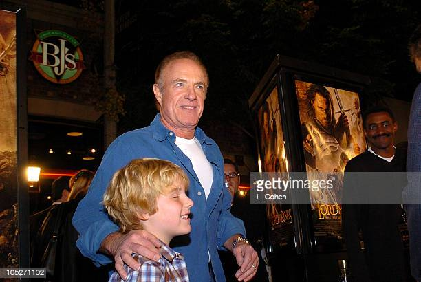 James Caan and son during The Lord Of The RingsThe Return Of The King Los Angeles Premiere Red Carpet at Mann Village Theatre in Westwood California...