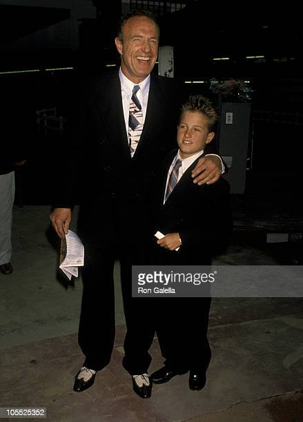 James Caan And Son Scott Caan during Hollywood Stars Night 1st Thoroughbred at Hollywood Park in Hollywood California United States