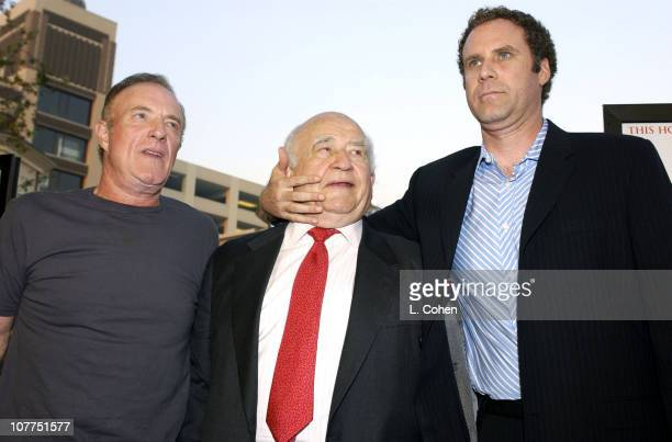 James Caan Edward Asner and Will Ferrell during Elf Special Screening Los Angeles Red Carpet at The Grove Theater in Los Angeles California United...