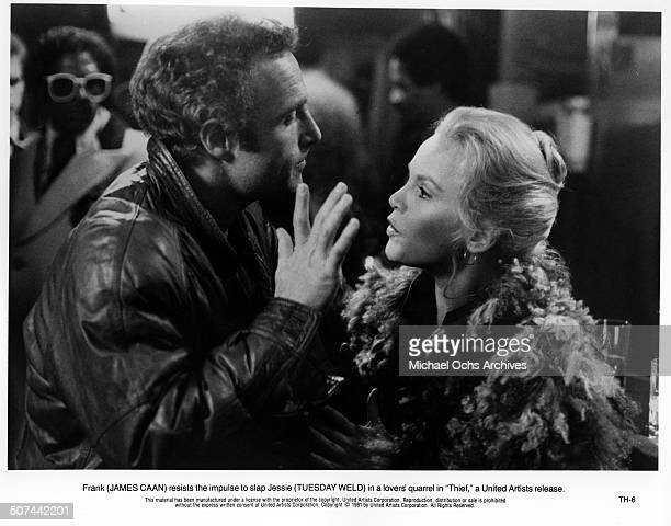 James Caan is confronted by Tuesday Weld in a scene from the United Artist movie 'Thief' circa 1981