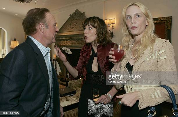 James Caan Milla Jovovich and Carmen Hawk during Oliver Peoples Tracey Ross JovovichHawk and Richemont 2007 Oscar Luncheon at Private Residence in...