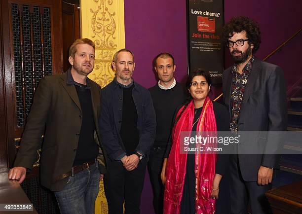 James Caddick, James Cronin, Orlando Weeks, Richard Reynolds and Lyla Reynolds attend the 'Elephant Days' screening during the BFI London Film...
