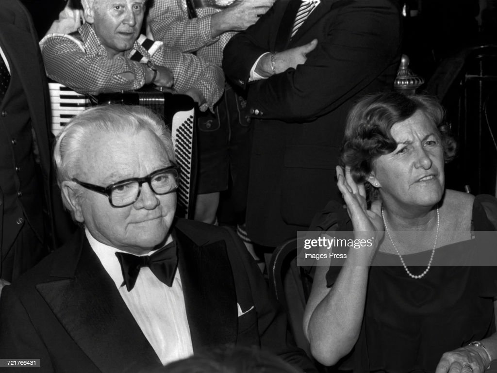 """James Cagney attends the """"Ragtime"""" Premiere After-Party at Luchow's Restaurant : News Photo"""