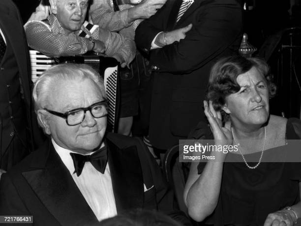 James Cagney and Marge Zimmerman attend the Ragtime Premiere AfterParty at Luchow's Restaurant circa 1981 in New York City