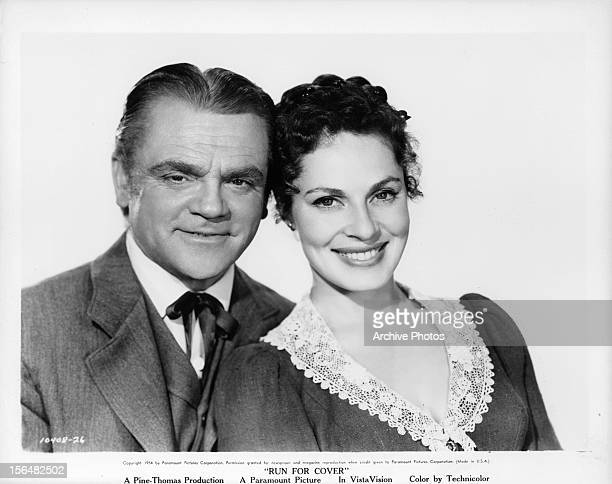 James Cagney and Viveca Lindfors in a publicity portrait for the film 'Run For Cover' 1955