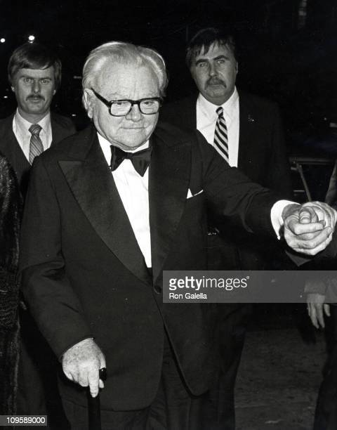 James Cagney during Ragtime Premiere Party at Luchow's Restaurant in New York City New York United States