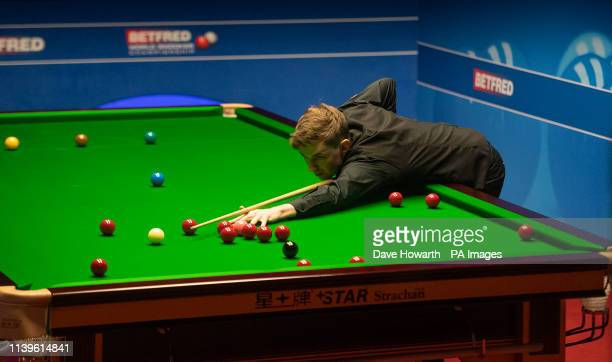 James Cahill during day eight of the 2019 Betfred World Championship at The Crucible Sheffield