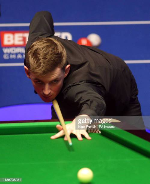 James Cahill during day three of the 2019 Betfred World Championship at The Crucible Sheffield