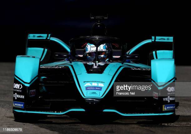 James Calado of Great Britain driving the Jaguar IType IV Panasonic Jaguar Racing on track during qualifying for the ABB FIA Formula E Championship...