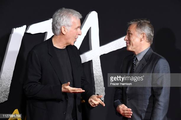 James Cameron and Christoph Waltz attend the Premiere Of 20th Century Fox's Alita Battle Angel at Westwood Regency Theater on February 05 2019 in Los...