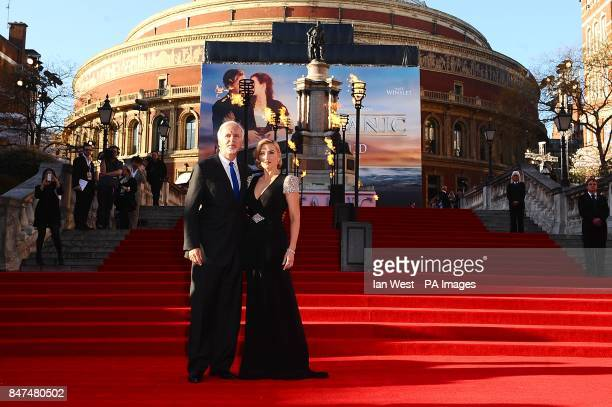 James Cameron and Kate Winslet arriving for the World Premiere of Titanic 3D at the Royal Albert Hall Prince Consort Rd London