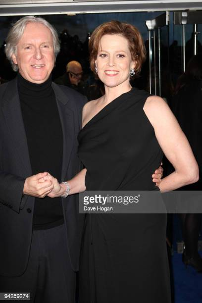 James Cameron and Sigourney Weaver attend the world premiere of Avatar held at The Odeon Leicester Square on December 10 2009 in London England