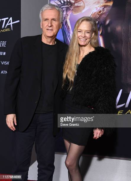 James Cameron and Suzy Amis Cameron arrive at the Premiere Of 20th Century Fox's Alita Battle Angel at Westwood Regency Theater on February 05 2019...