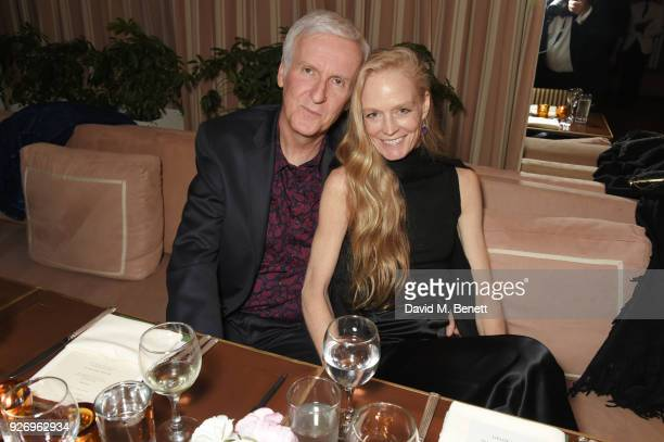 James Cameron and Suzy Amis Cameron attend the first annual gala hosted by MAISONDEMODECOM and Perrier Jouet to celebrate Sustainable Style by...