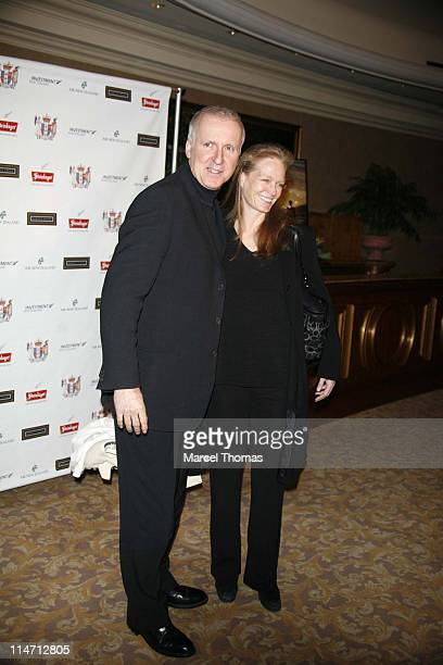 James Cameron and wife Suzy Amis during 6th Annual Oscar Celebration of New Zealand Filmmaking Arrivals at The Beverly Hills Hotel in Beverly Hills...