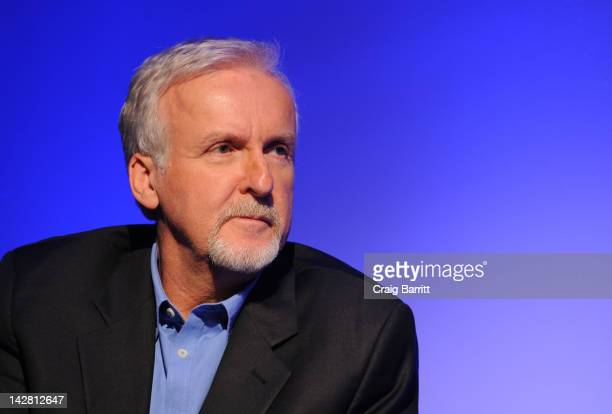 James Cameron attends Meet The Filmmaker James Cameron at Apple Store Soho on April 12 2012 in New York City