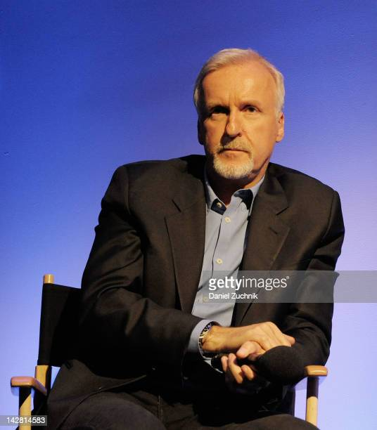 James Cameron attends Meet The Filmmakers James Cameron at Apple Store Soho on April 12 2012 in New York City