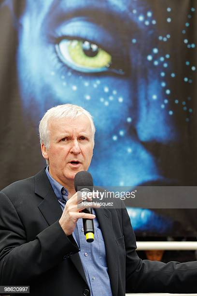 James Cameron attends the Bluray and DVD release of 'Avatar' Earth Day tree planting ceremony at Fox Studio Lot on April 22 2010 in Century City...