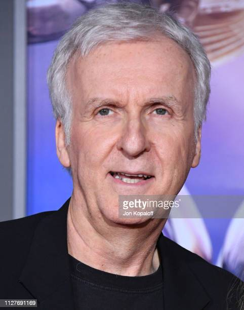 James Cameron attends the premiere of 20th Century Fox's Alita Battle Angel at Westwood Regency Theater on February 05 2019 in Los Angeles California