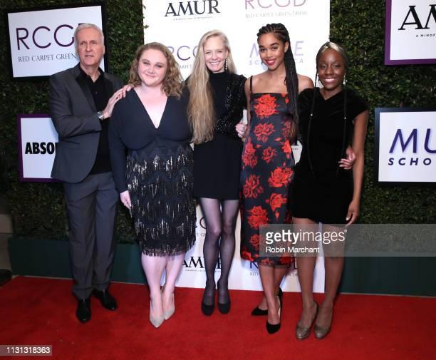 James Cameron, Danielle Macdonald, Suzy Amis Cameron, Laura Harrier and Samata Pattinson attend Suzy Amis Cameron's 10-Year Anniversary Of RCGD...