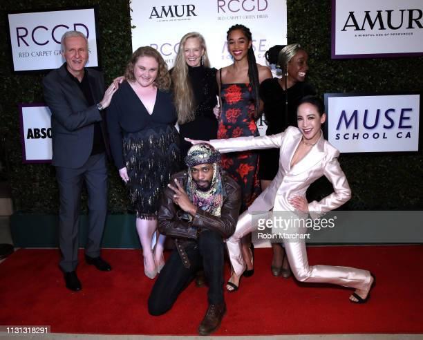 James Cameron, Danielle Macdonald, Suzy Amis Cameron, Samata Pattinson, Lakeith Stanfield, Fiona Xie, and Laura Harrier attend Suzy Amis Cameron's...