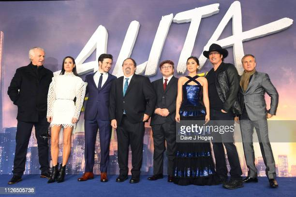 James Cameron Jennifer Connelly Keean Johnson Jon Landau Yukito Kishiro Rosa Salazar Robert Rodriguez and Christoph Waltz attend the World Premiere...