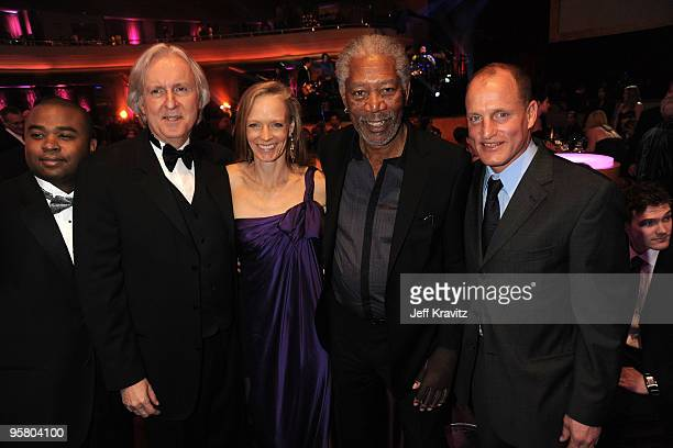 James Cameron Suzy Amis Morgan Freeman and Woody Harrelson attend the 15th Annual Critics' Choice Movie Awards held at the Hollywood Palladium on...