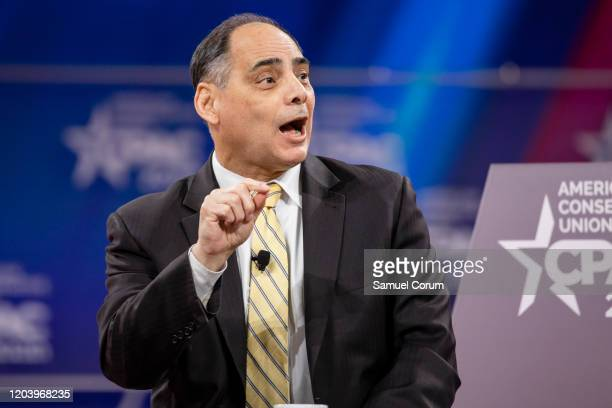 James Carafano with the Heritage Foundation speaks during the Conservative Political Action Conference 2020 hosted by the American Conservative Union...