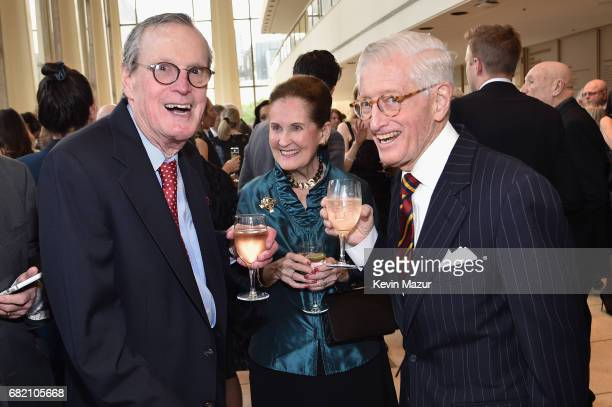 James Carter Marjorie Hart and Board Member Gurnee Hart attend the New York Philharmonic's Spring Gala at David Geffen Hall on May 11 2017 in New...