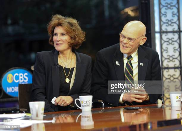 James Carville and Mary Matalin appear on CBS This Morning in a live broadcast from CBS Super Bowl Park at Jackson Square in the heart of the...