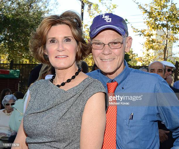 James Carville and Mary Matalin arrive at 40 Hours to Decide at University Synagogue on November 4 2012 in Los Angeles California