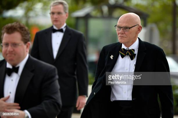 James Carville arrives at the John F Kennedy Library for the annual JFK Profile in Courage Award on May 20 2018 in Boston Massachusetts This year...
