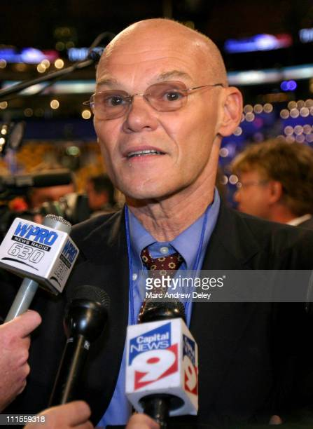 James Carville during Celebrity Sightings at the Democratic National Convention Day 3 July 28 2004 at Boston Fleet Center in Boston Massachusetts...