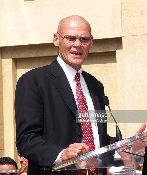 James Carville during Mike Medavoy Honored with a Star on the Hollywood Walk of Fame at The Kodak Theatre in Hollywood California United States