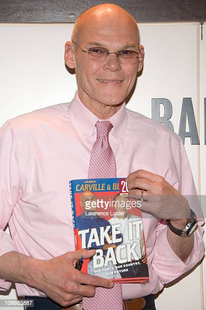 James Carville during Paul Begala and James Carville Sign Their Book Take It Back at Barnes Noble in New York City January 25 2006 at Barnes Noble...