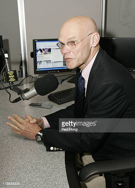 James Carville in the studio at the launch of XM Radio's new sport show 60/20 hosted by Capitol File Magazine and XM Radio