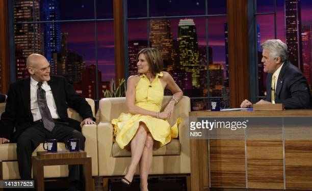 LENO James Carville Mary Matalin Air Date 3/18/08 Episode 3516 Pictured Actors Terry Bradshaw James Carville and Mary Matalin during an interview on...