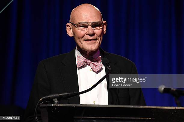 James Carville speaks onstage during Angel Ball 2015 hosted by Gabrielle's Angel Foundation at Cipriani Wall Street on October 19 2015 in New York...