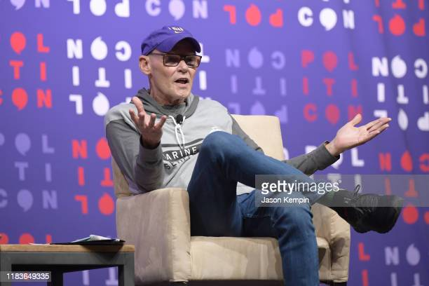 James Carville speaks onstage during the 2019 Politicon at Music City Center on October 26 2019 in Nashville Tennessee