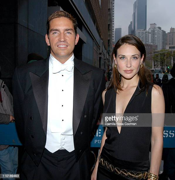 James Caviezel and Claire Forlani during Bobby Jones Stroke of Genius New York City Premiere at Loews Lincoln Square Theater in New York City New...