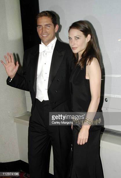 James Caviezel and Claire Forlani during Bobby Jones Stroke of Genius New York Premiere Arrivals at Tavern on the Green in New York City New York...